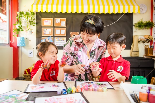 Play-based learning at MapleBear Preschool