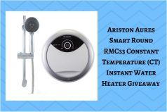 Ariston Aures Smart Round RMC33 Constant Temperature (CT) Instant Water Heater Giveaway