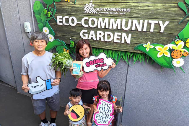 Green thumbs at the Eco-Community Garden
