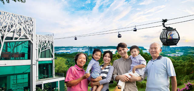 Singapore Cable Car Family