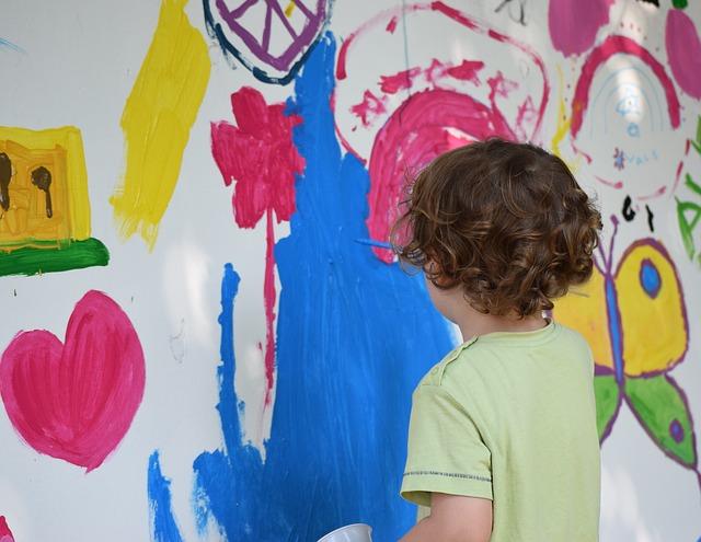 Creative child painting