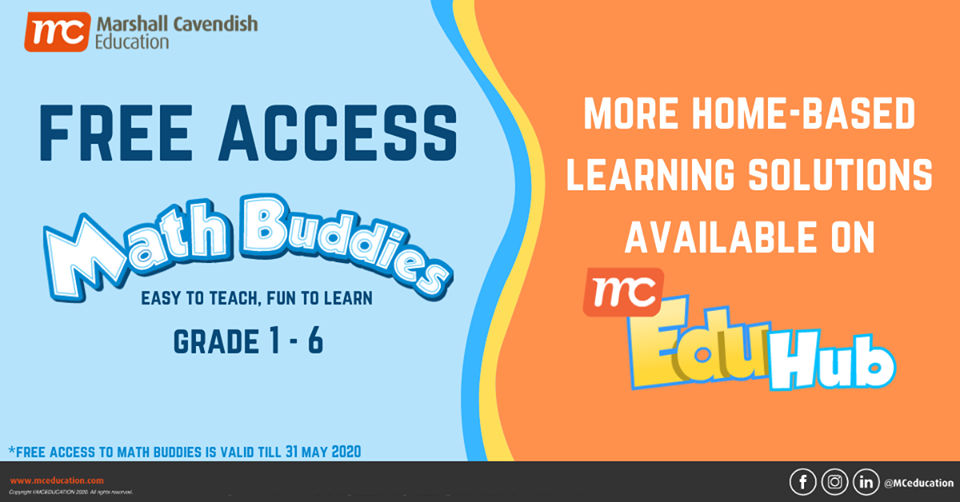 Marshall Cavendish Education Offering FREE ACCESS to Math Buddies