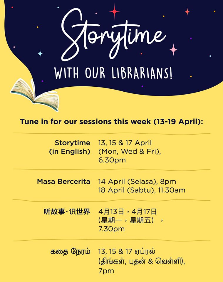 NLB Online Storytelling Session 13 -19 Apr