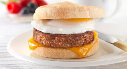 Quorn Sausage Muffin with Egg