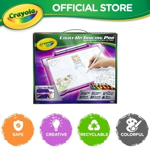 Shopee Mega Online Baby Fair Crayola Light Up Tracing Pad Blue