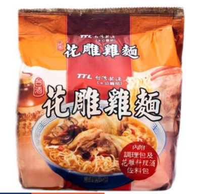 TTL Taiwan Hua Diao Chinese Drunken Chicken Instant Noodles