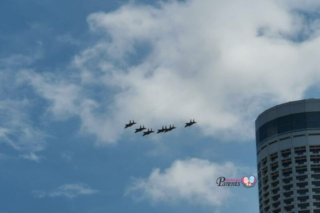 F15s flying past padang ndp rehearsal