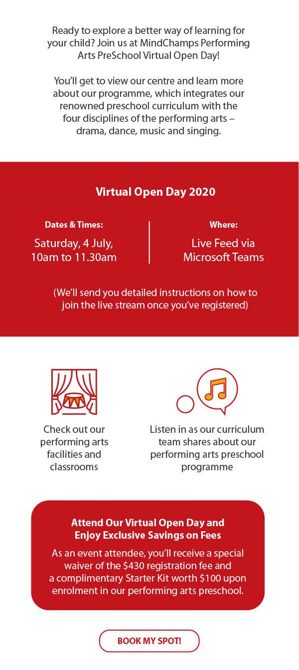 MindChamps Performing Arts Preschool MCPAP Virtual Open House