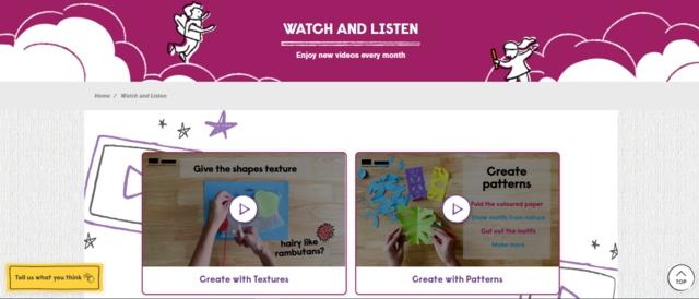 Watch and Listen craft video tutorial for children