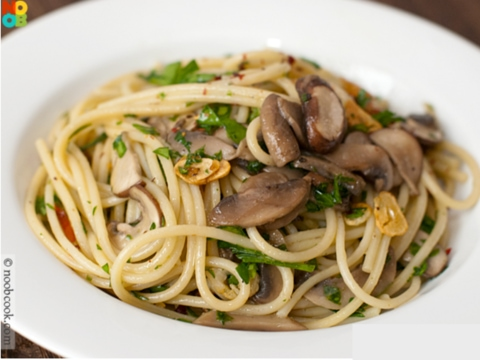 Mushroom Spaghetti Quick Meal recipe