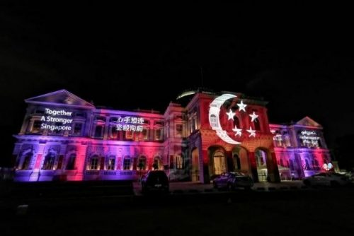 National Day 2021 Facade Projection at National Museum of Singapore