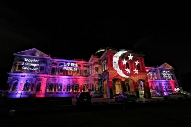 National Day 2020 Facade Projection at National Museum of Singapore