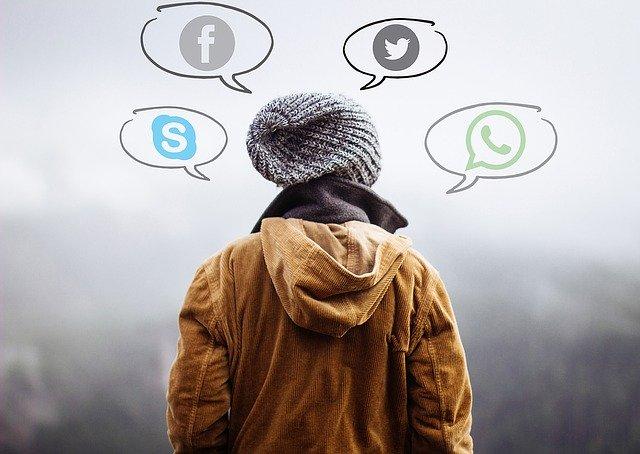 Teen using social media