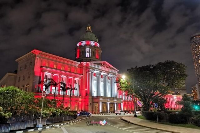 National Gallery Singapore Light Up National Day