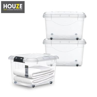 Shopee HOUZE 30L Motif Storage Box with Wheels Set Of 3