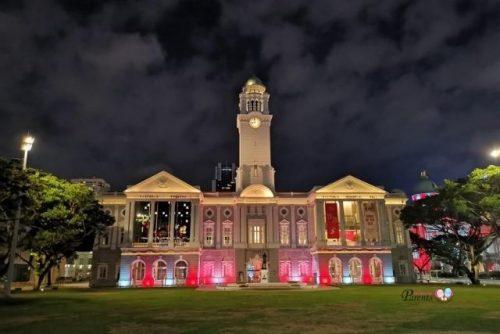 Victoria Theatre and Victoria Concert Hall Light Up