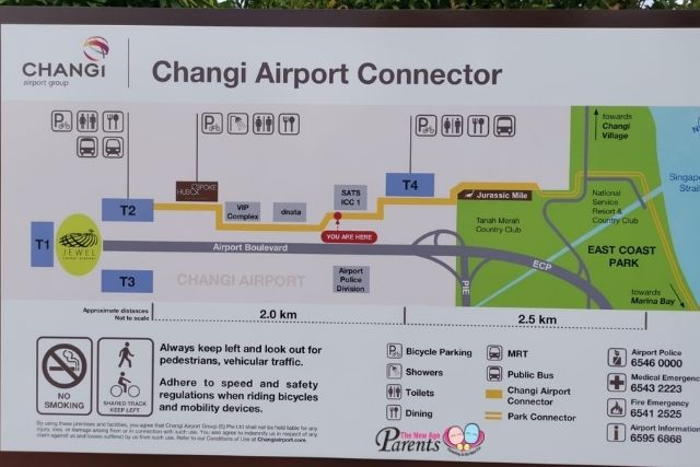 Changi Jurassic Mile Park Connector Map