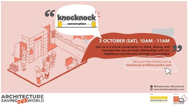Singapore ArchiFest 2020 KNOCKKNOCK_Conversation