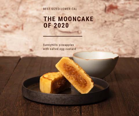 SunnyHills Pineapple Custard Mooncakes