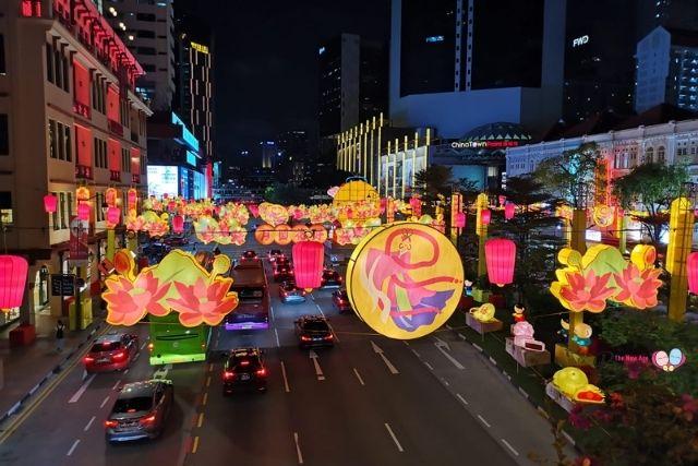 chinatown mid autumn street lightup 2020