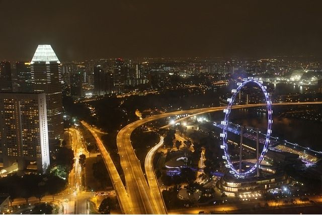 singapore flyer night view
