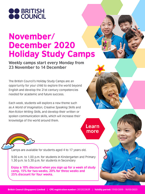 British Council Holiday Study Camps Nov 2020