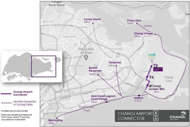 Connecting Changi Airport to the city & heartlands park connector