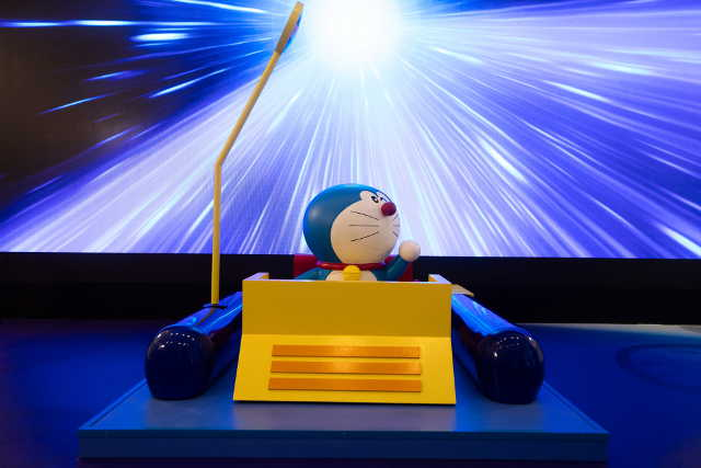 Doraemon prepares to take a trip across time at the National Museum of Singapore