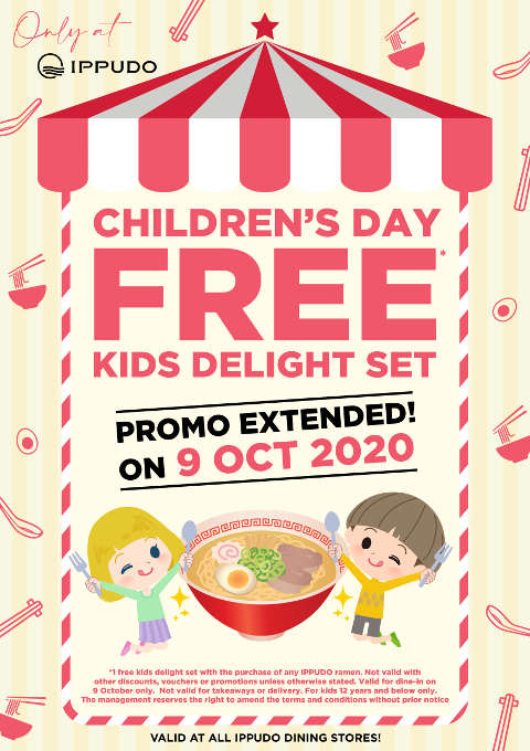 IPPUDO Singapore childrens day promotion