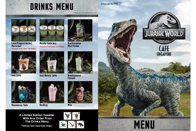 Jurassic World Cafe Drinks Menu