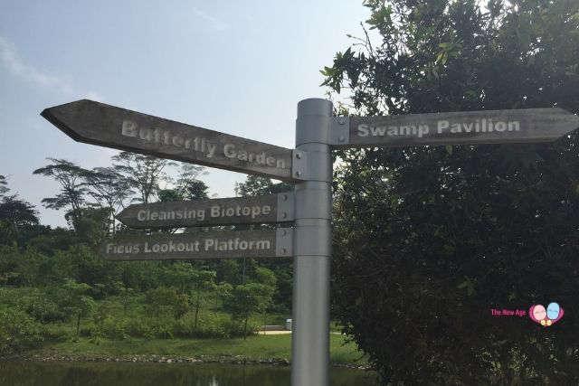 Jurong Eco-Garden Direction Sign