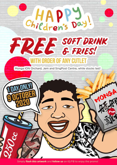 Monga Fried Chicken childrens day promotion