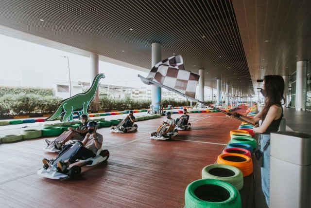 Changi Airport Terminal 4 Dino Kart