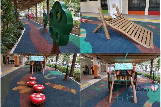 Hansel and Gretel Playground Adventure Bridge Stepping Mushrooms