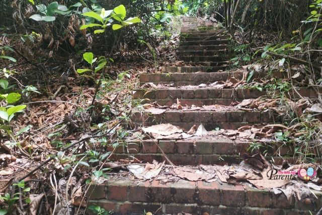 Steps up to Keppel Hill Japanese Tomb