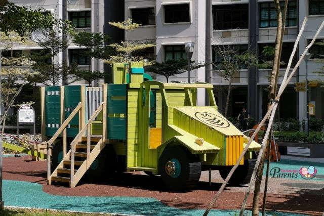 children outdoor army truck playground