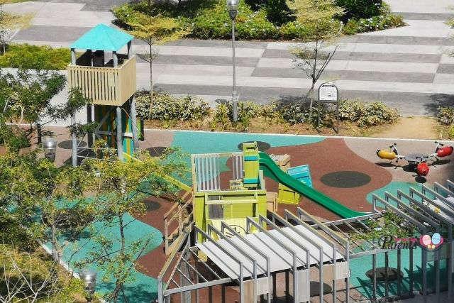 top view army truck children playground