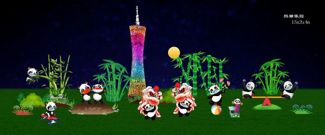 Festival of Lights Panda Wonderland