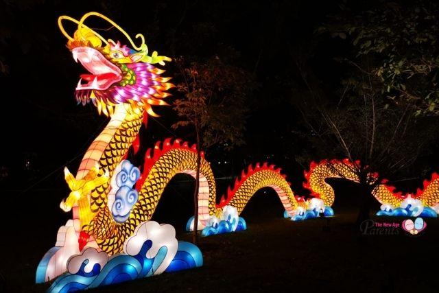 festival of lights at jurong lake gardens dragon