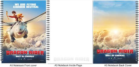 Dragon Rider A5 Notebook