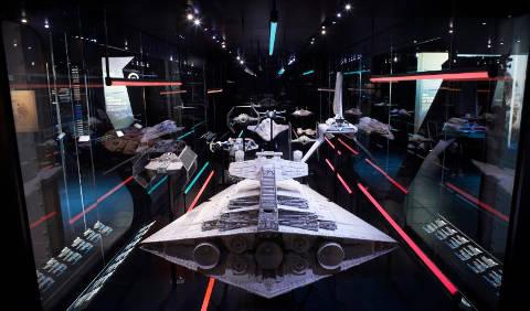 Model of the Imperial fleet Star Destroyer