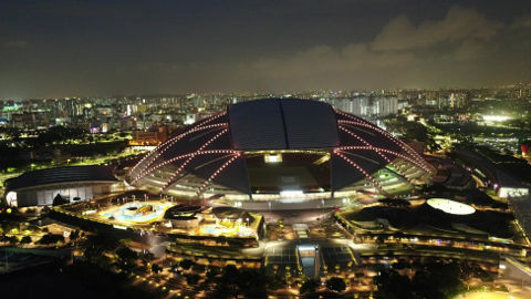 sports hub chinese new year golden dome