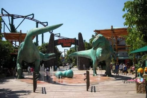 Dinosaurs at Jurassic Park Universal Studios Singapore