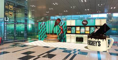 Larger-than-life HERSHEY'S chocolate installations Changi airport