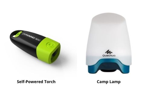 Camping must have Self-Powered Torch and Camp Lamp