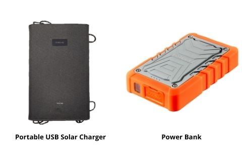Portable USB Solar Charger and Power Bank