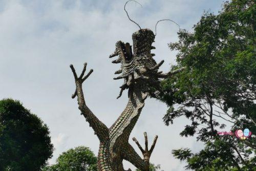 whampoa dragon fountain statue