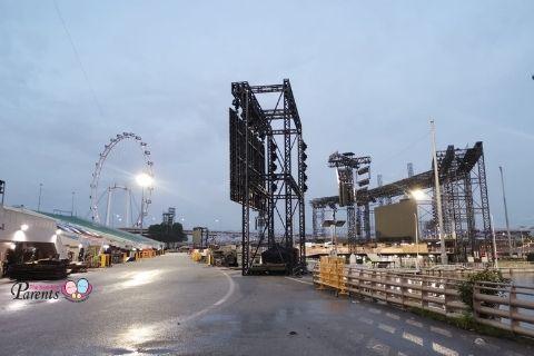 National day parade NDP 2021 Marina Floating Platform setup