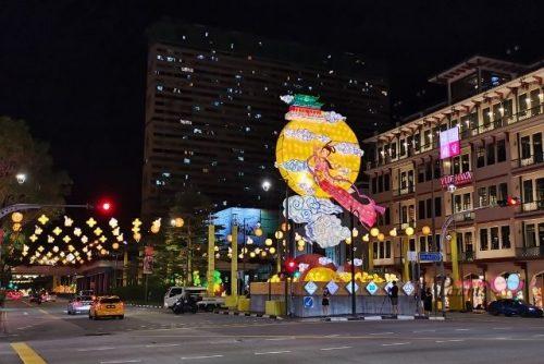 chinatown mid autumn festival lightup 2021