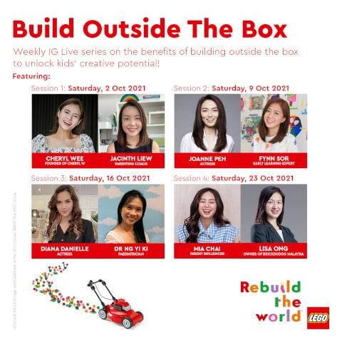 LEGO Rebuild the World IG Live sessions